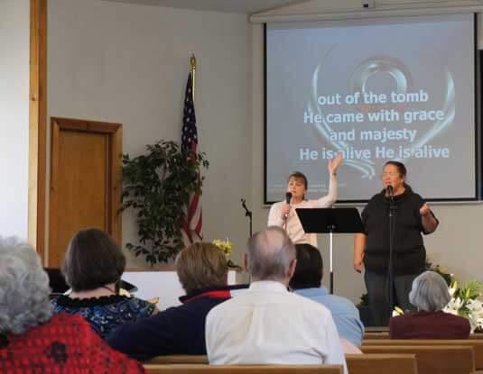 Sunday Service Singing Hymns